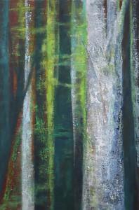 Bäume-01_2014, Acryl a. Leinwand, 50x40