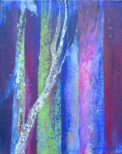 Bäume-03_2014, Acryl a. Leinwand, 50x40
