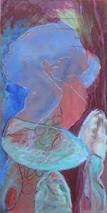 Beim Schalenstein_2011, Acryl a. Leinwand, 100x50