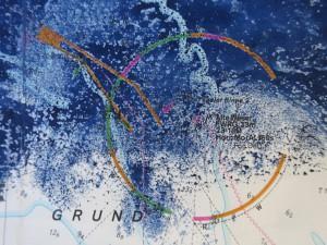 Detail-2_Blauer Akt auf Seekarte II [Detail]