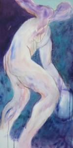 Diskuswerfer-griechisch_2014, Acryl a. Leinwand, 100x50