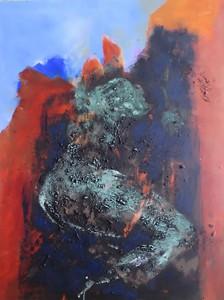 Grüner Akt_2015, Acryl a. Leinwand, 120x90