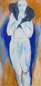 Lammträger_2014, Acryl a. Leinwand, 100x50