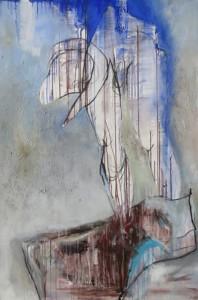 Torso_2007, Acryl a. Leinwand, 150x100