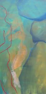 Orpheus und Eurydike_2014, Acryl a. Leinwand, 120x60