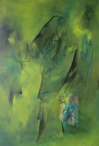 Schwebend_2015, Acryl a. Leinwand, 150x100