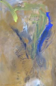 Tier mit Lichtstrahl_2003, Acryl a. Leinwand, 150x100