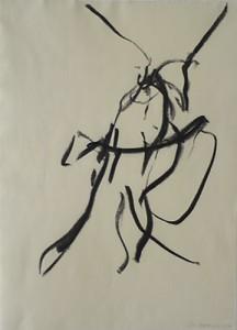 Tier,  mythologisch_2008_Kohlezeichnung_40 x 50