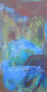 Zwischen den Steinen_2014, Acryl a. Leinwand, 120x60